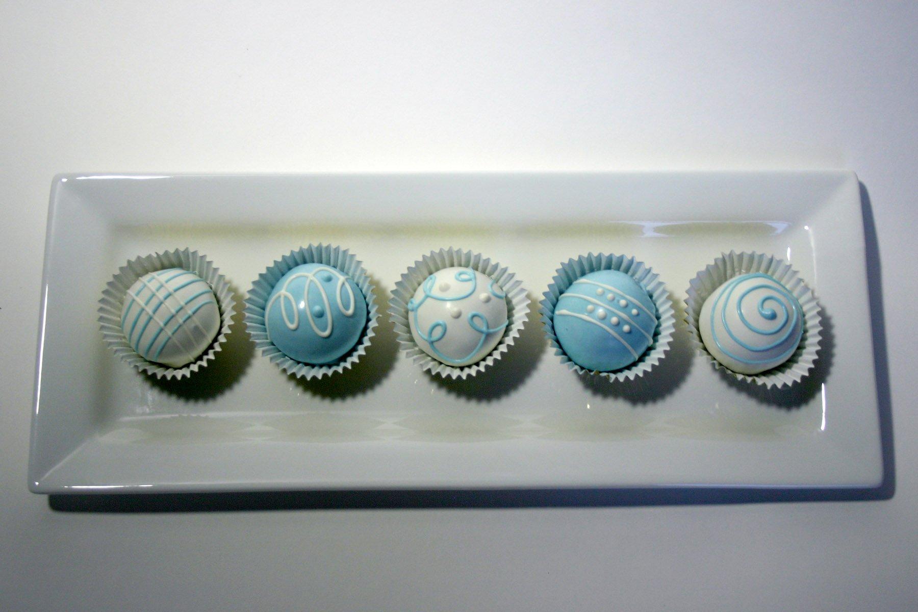 Blue and White Cake Bites