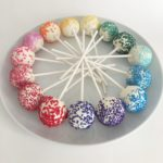Colorful Rainbow Sprinkles Cake Pops